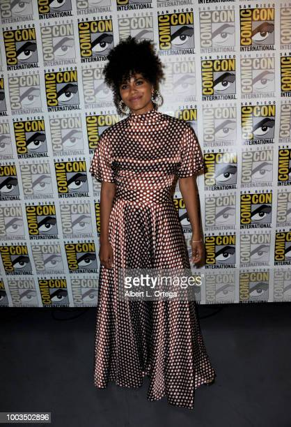 Zazie Beetz attends the Deadpool 2 panel during ComicCon International 2018 at San Diego Convention Center on July 21 2018 in San Diego California