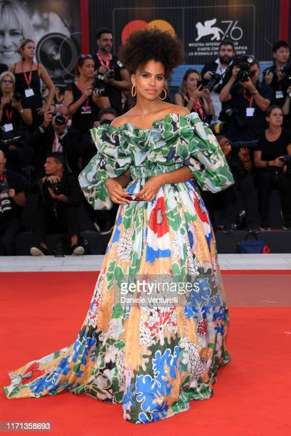 """Zazie Beetz attends the """"Joker"""" screening during the 76th Venice Film Festival at Sala Grande on August 31, 2019 in Venice, Italy."""
