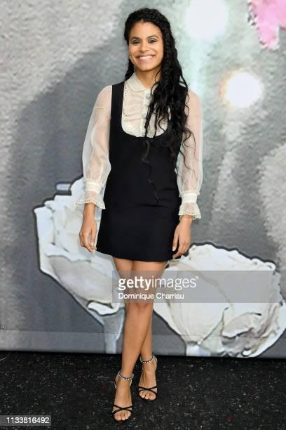 Zazie Beetz attends the Miu Miu show as part of the Paris Fashion Week Womenswear Fall/Winter 2019/2020 on March 05 2019 in Paris France