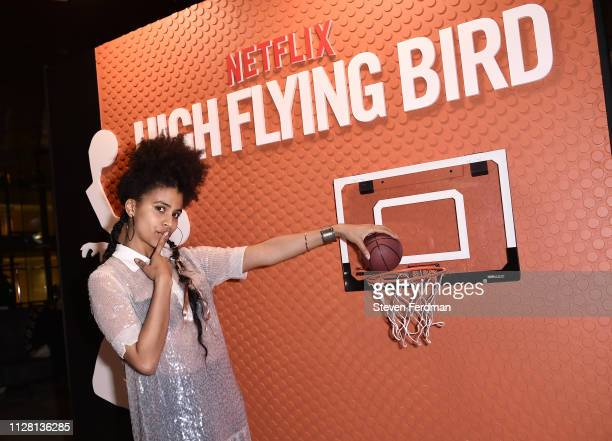 Zazie Beetz attends the Netflix High Flying Bird Film Comment Select Special Screening after party at Lincoln Ristorante on February 07 2019 in New...