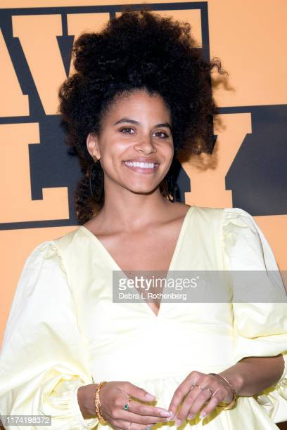 """Zazie Beetz attends the opening night of """"Slave Play"""" at John Golden Theatre on October 6, 2019 in New York City."""