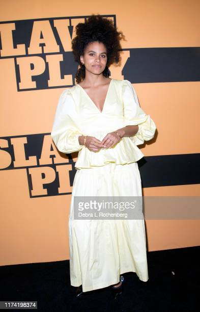 Zazie Beetz attends the opening night of Slave Play at John Golden Theatre on October 6 2019 in New York City
