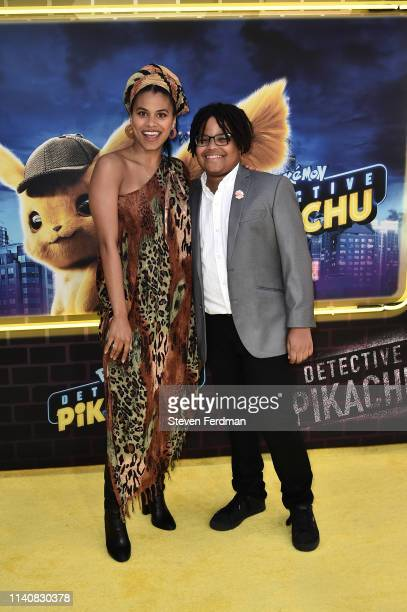 Zazie Beetz attends the premiere of Pokemon Detective Pikachu at Military Island in Times Square on May 2 2019 in New York City