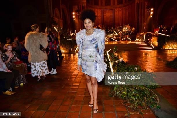 Zazie Beetz attends the Rodarte AW/20 Fashion Show on February 11 2020 in New York City