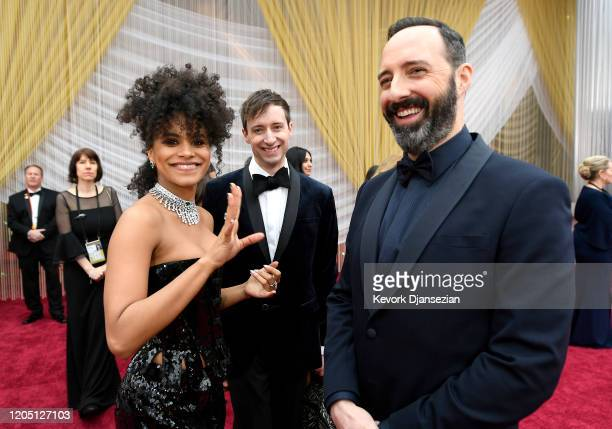Zazie Beetz David Rysdahl and Tony Hale attend the 92nd Annual Academy Awards at Hollywood and Highland on February 09 2020 in Hollywood California