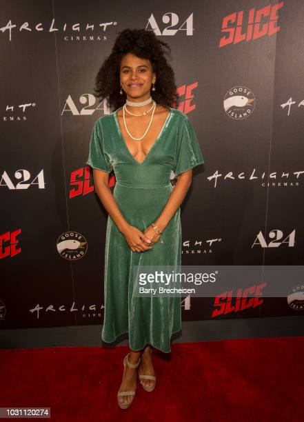 """Zazie Beetz during the premiere of the film """"Slice"""" at the ArcLight Chicago on September 10, 2018 in Chicago, Illinois."""