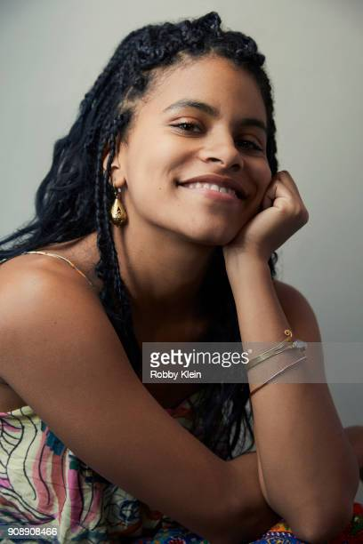 Zazie Beetz from the film 'Dead Pigs' poses for a portrait at the YouTube x Getty Images Portrait Studio at 2018 Sundance Film Festival on January 20...