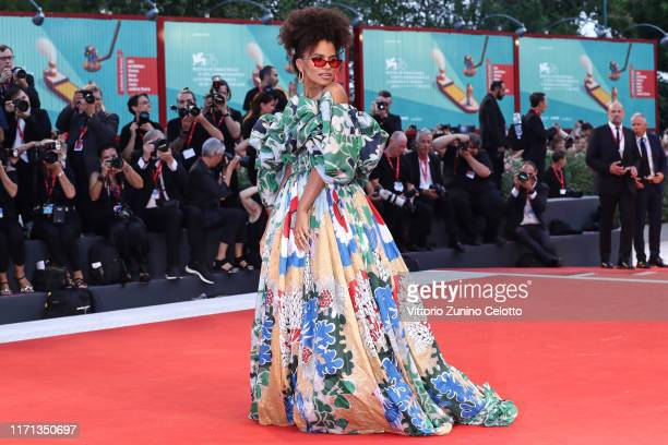 Zazie Beetz walks the red carpet ahead of the Joker screening during the 76th Venice Film Festival at Sala Grande on August 31 2019 in Venice Italy