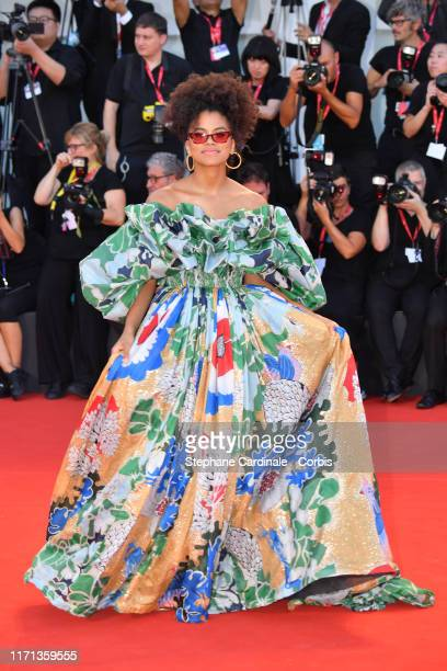 """Zazie Beetz walks the red carpet ahead of the """"Joker"""" screening during the 76th Venice Film Festival at Sala Grande on August 31, 2019 in Venice,..."""