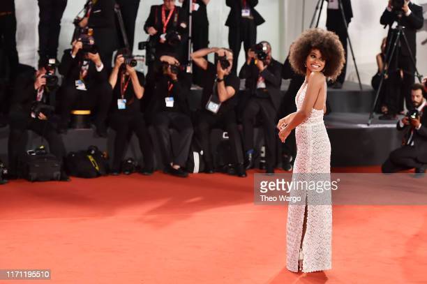 Zazie Beetz walks the red carpet ahead of the Seberg screening during the 76th Venice Film Festival at Sala Grande on August 30 2019 in Venice Italy