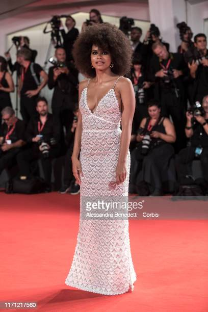 """Zazie Beetz walks the red carpet ahead of the """"Seberg"""" screening during the 76th Venice Film Festival at Sala Grande on August 30, 2019 in Venice,..."""