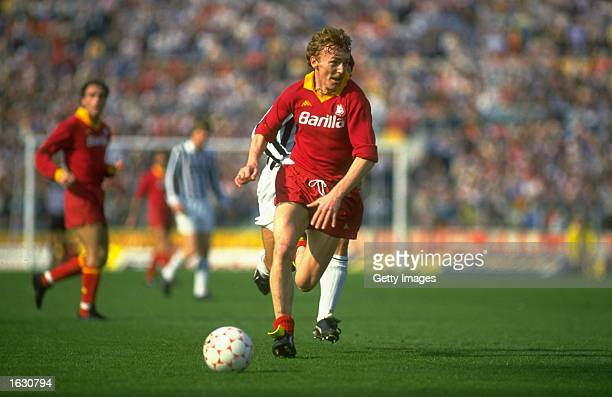 Zbigniew Boniek of Roma in action during a Serie A match against Juventus at the Olympic Stadium in Rome. Roma won the match 3-0. \ Mandatory Credit:...