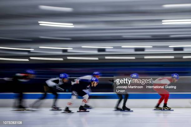Zbigniew Brodka of Poland competes in the Men's Mass Start semifinal at Thialf on December 14 2018 in Heerenveen Netherlands Photo by Joosep...