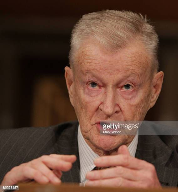 Zbigniew Brzezinski former national security adviser to President Carter participates in Senate Foreign Relations Committee hearing on Capitol Hill...