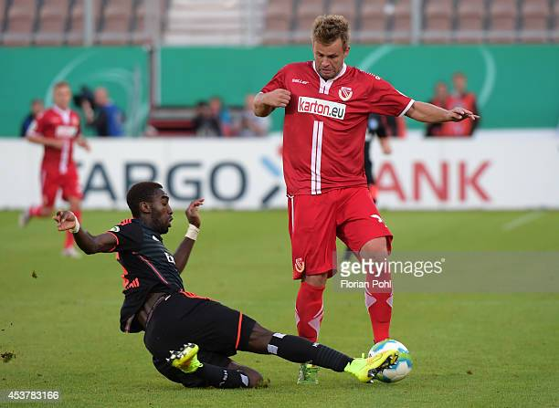 Zbynek Pospech of Energie Cottbus in action during the DFP Cup first round match between Energie Cottbus and Hamburger SV at Stadion der Freundschaft...