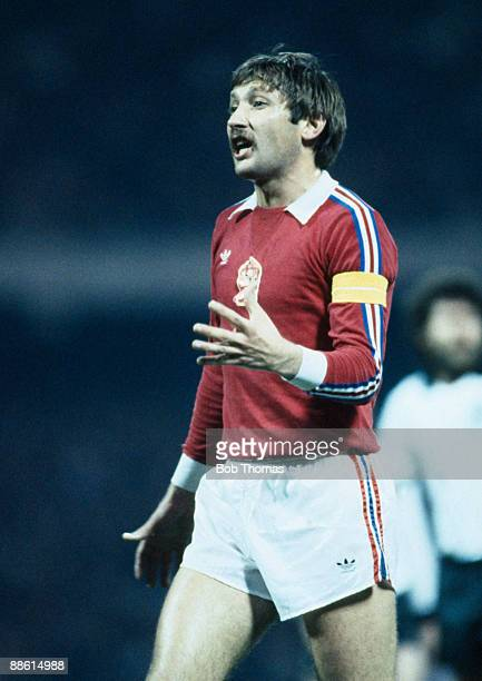 Zdenek Nehoda of Czechoslovakia during the West Germany v Czechoslovakia Friendly International match played in Cologne Germany on the 14th April 1982
