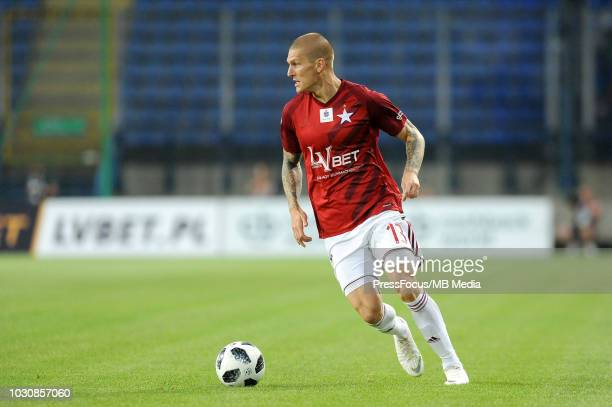 Zdenek Ondrasek in action during Lotto Ekstraklasa match between Wisla Cracow and Miedz Legnica on July 27 2018 in Cracow Poland