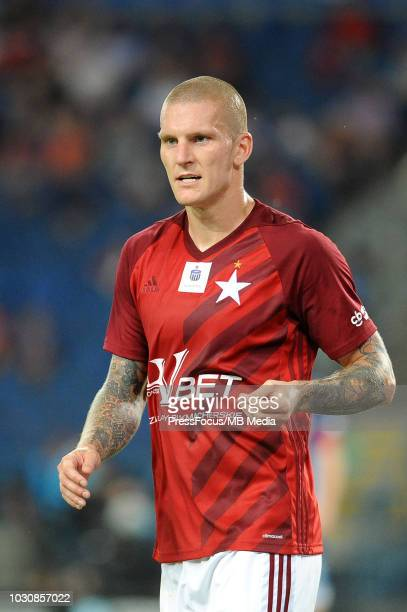 Zdenek Ondrasek looks on during Lotto Ekstraklasa match between Wisla Cracow and Miedz Legnica on July 27 2018 in Cracow Poland