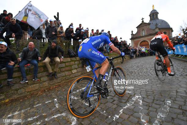 Zdenek Stybar of Czech Republic and Team Deceuninck Quick-Step / Greg Van Avermaet of Belgium and CCC Team / Muur van Geraardsbergen / Fans / Public...
