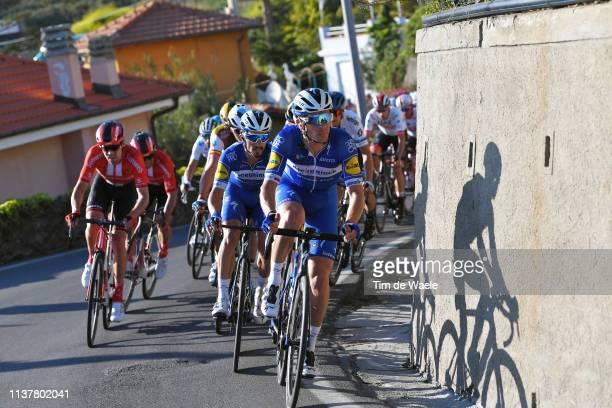 Zdenek Stybar of Czech Republic and Team Deceuninck - Quick-Step / Julian Alaphilippe of France and Team Deceuninck - Quick Step / Tom Dumoulin of...