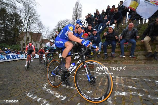Zdenek Stybar of Czech Republic and Team Deceuninck Quick-Step / Muur van Geraardsbergen / Fans / Public / during the 74th Omloop Het Nieuwsblad 2019...