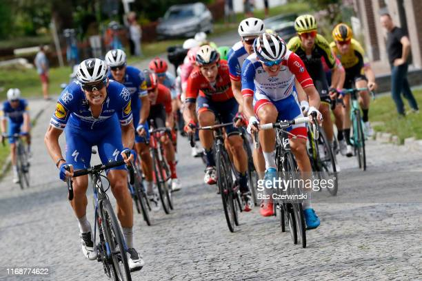 Zdenek Stybar of Czech Republic and Team DeceuninckQuickStep / Ivan Garcia Cortina of Spain and Team BahrainMerida / Valentin Madouas of France and...