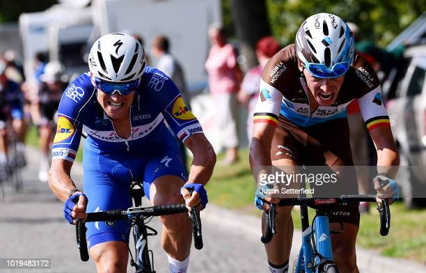 Zdenek Stybar of Czech Republic and Team Quick Step Floors / Oliver Naesen of Belgium and Team AG2R La Mondiale / during the 14th BinckBank Tour 2018...
