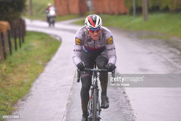 Zdenek Stybar of Czech Republic and Team Quick-Step Floors / during the 73rd Dwars door Vlaanderen 2018 a 180,1km race from Roeselare to Waregem on...
