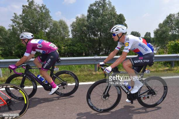 Zdenek Stybar of Czech Republic and Team Quick-Step Floors / Elia Viviani of Italy and Team Quick-Step Floors Purple Points Jersey / during the 101st...