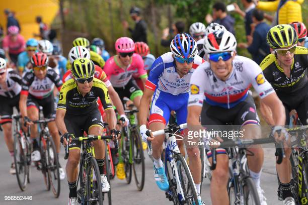 Zdenek Stybar of Czech Republic and Team QuickStep Floors / Simon Yates of Great Britain and Team MitcheltonScott / Thibaut Pinot of France and Team...