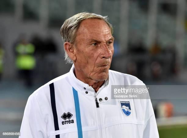 Zdenek Zeman head coach of Pescara Calcio during the Serie A match between Pescara Calcio and US Citta di Palermo at Adriatico Stadium on May 22 2017...