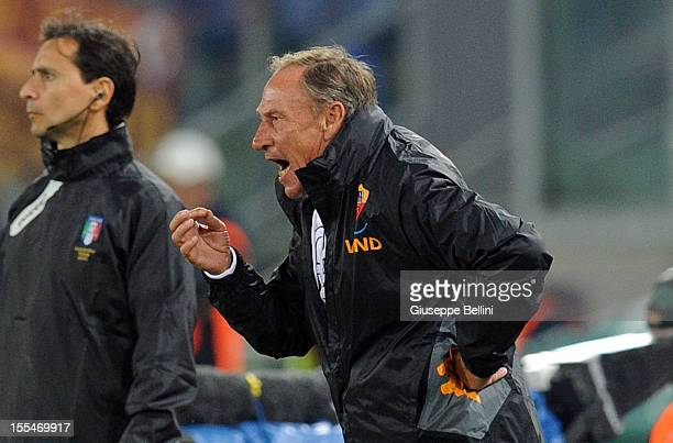 Zdenek Zeman head coach of Roma during the Serie A match between AS Roma and US Citta di Palermo at Stadio Olimpico on November 4 2012 in Rome Italy