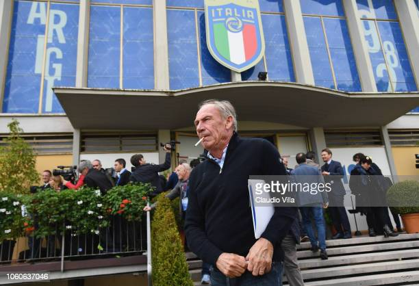 Zdenek Zeman looks on at Centro Tecnico Federale di Coverciano on November 12 2018 in Florence Italy