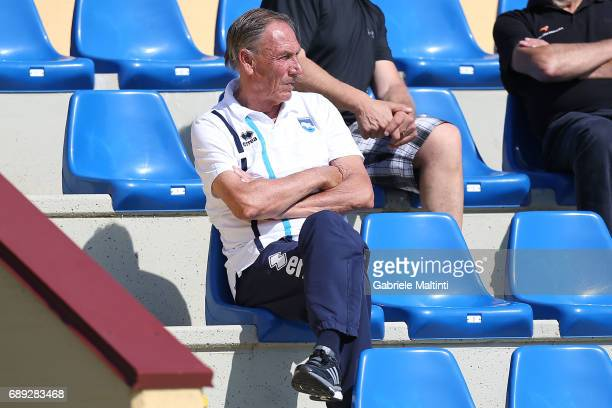 Zdenek Zeman manager of Pescara Calcio looks on during the Under 12 Fair Play Elite Finals on May 28 2017 in Florence Italy