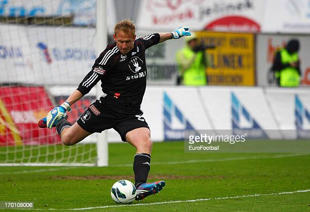 Zdenek Zlamal of SK Sigma Olomouc in action during the Czech First League match between FK Jablonec and SK Sigma Olomouc held on May 26, 2013 at the...