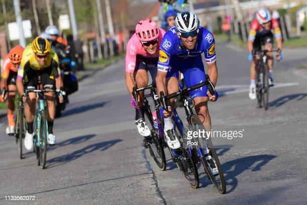 Zdenk tybar of Czech Republic and Team Deceuninck - Quick-Step / Alberto Bettiol of Italy and Team Ef Education First / Wout Van Aert of Belgium and...