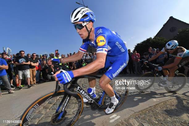 Zdeněk Štybar of Czech Republic and Team Deceuninck - Quick-Step / Oliver Naesen of Belgium and Team Ag2R La Mondiale / Paterberg / Cobblestones /...