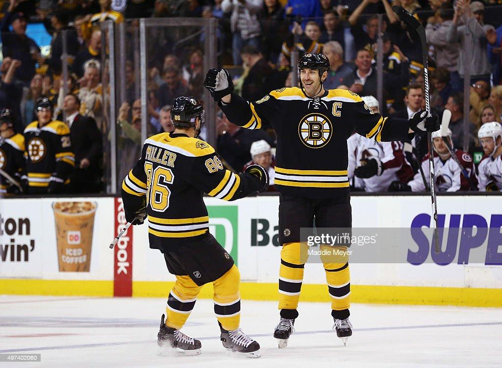 Colorado Avalanche v Boston Bruins : News Photo