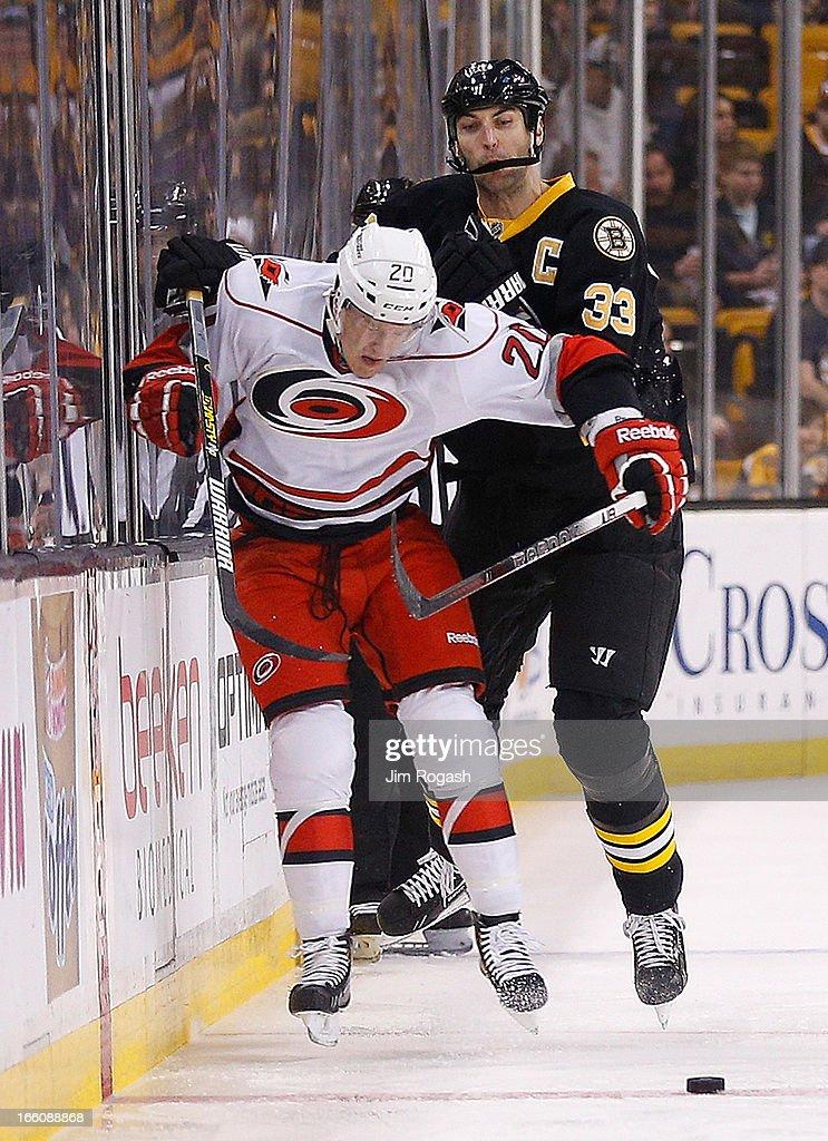 Carolina Hurricanes v Boston Bruins : News Photo