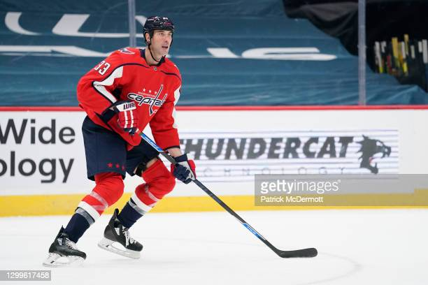Zdeno Chara of the Washington Capitals skates against the Boston Bruins in the second period at Capital One Arena on January 30, 2021 in Washington,...