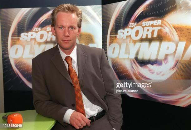 Moderator Johannes B. Kerner gehört zu dem Olympia-Moderatorenteam, das bei einer Pressekonferenz am 28.7.2000 in Hamburg vorgestellt wurde. Für ARD...