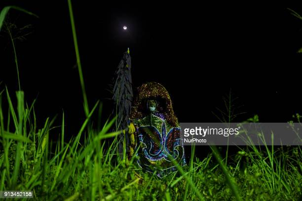 Ze Estêvão poses for a photo with his quotCaboclo de Lançaquot costume during the night in the city of Nazaré de Mata in Northeast Brazil on...