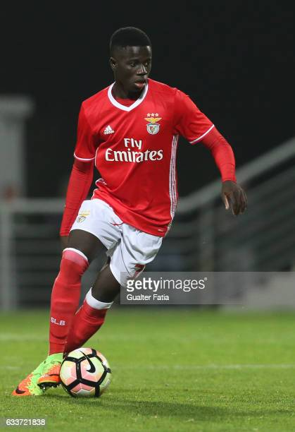 Ze Gomes of SL Benfica B in action during the Segunda Liga match between SL Benfica B and FC Vizela at Caixa Futebol Campus on February 3 2017 in...