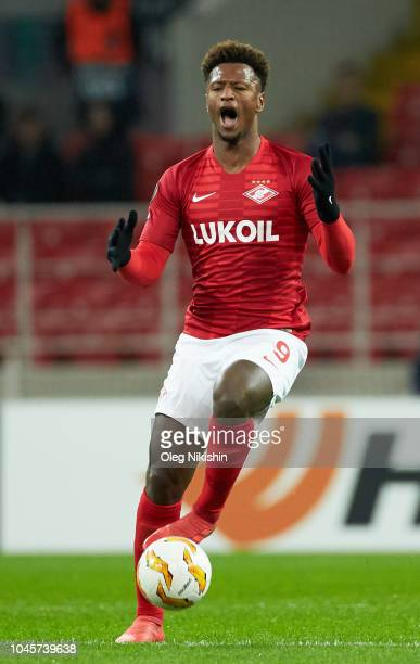 Ze Luis FC Spartak Moscow in action during the UEFA Europa League Group G match between FC Spartak Moscow and Villarreal CF at Otkrytie Arena on...