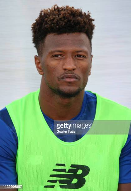 Ze Luis of FC Porto before the start of the PreSeason Friendly match between FC Porto and Fulham FC at Estadio Municipal de Albufeira on July 16 2019...