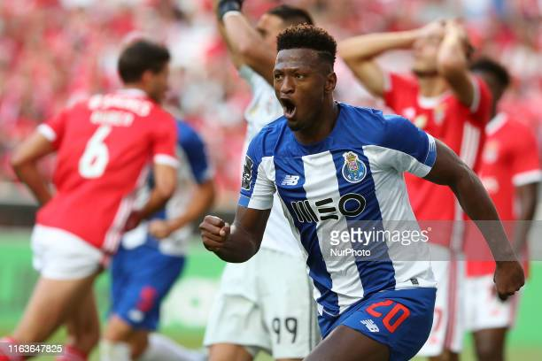 Ze Luis of FC Porto celebrates after scoring a goal during the Portuguese League football match between SL Benfica and FC Porto at the Luz stadium in...