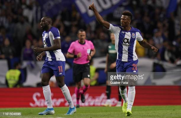 Ze Luis of FC Porto celebrates after scoring a goal during the UEFA Champions League Third Qualifying Round match between FC Porto and C Krasnodar at...