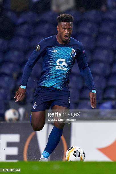 Ze Luis of FC Porto in action during the UEFA Europa League group G match between FC Porto and Feyenoord at Estadio do Dragao on December 12 2019 in...
