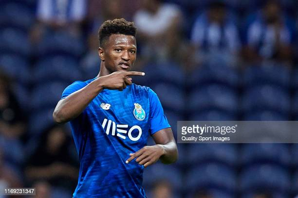 Ze Luis of FC Porto reacts prior to the Liga Nos match between FC Porto and Vitoria FC at Estadio do Dragao on August 17 2019 in Porto Portugal