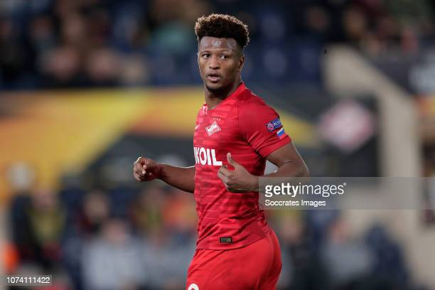 Ze Luis of Spartak Moscow during the UEFA Europa League match between Villarreal v Spartak Moscow at the Estadio de la Ceramica on December 13 2018...